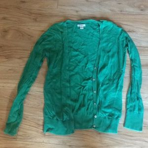 Kelly Green Old Navy Button-Up Sweater